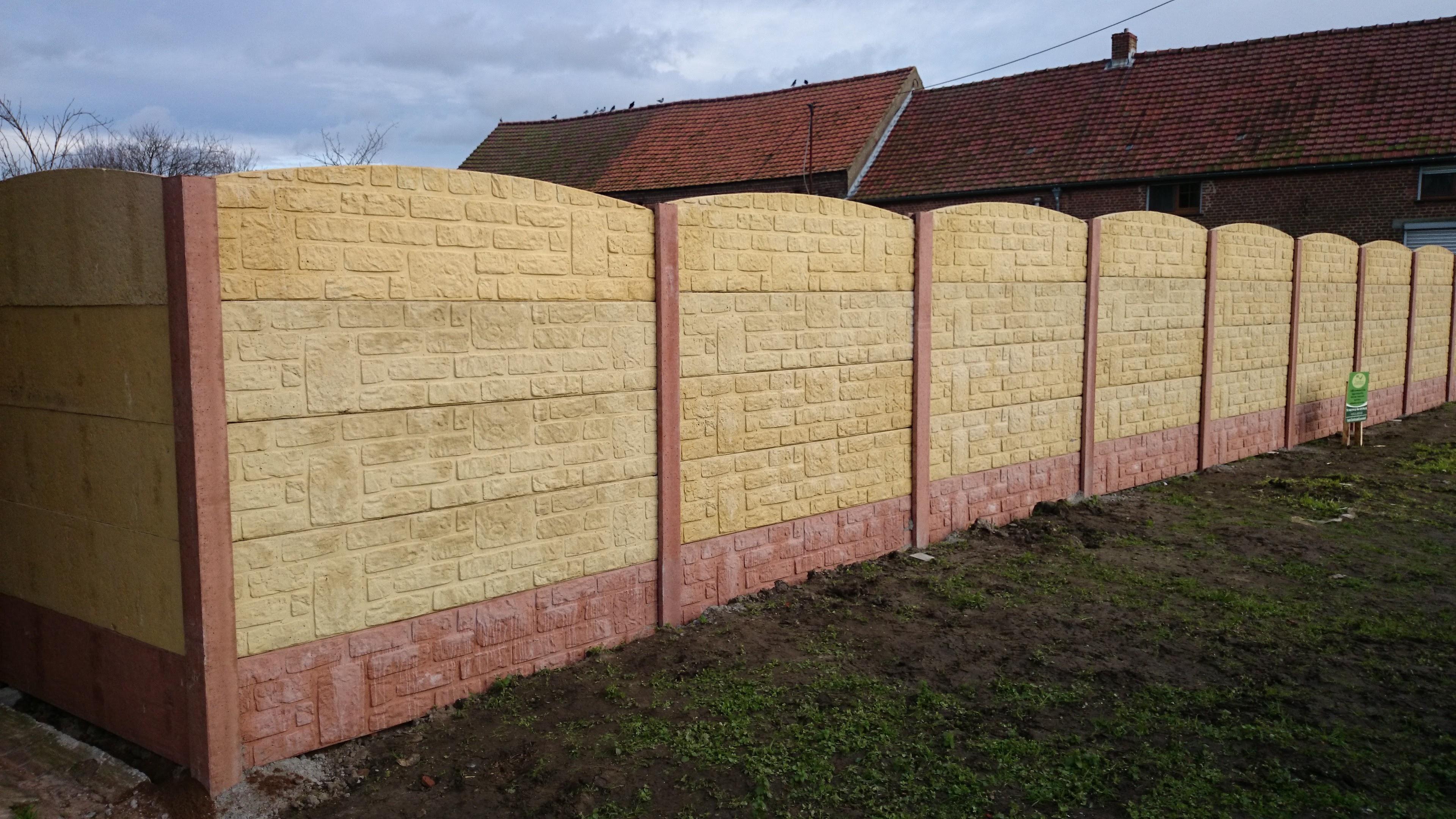 Pose de clôture - DL Jardin-Mons-clôture en bton-cloture rigide ...