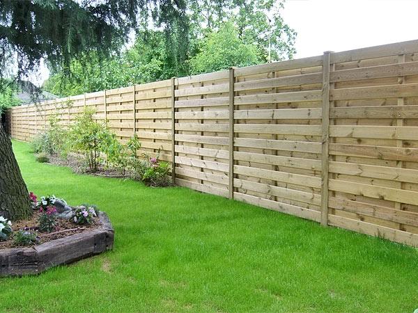gabion et palissade en bois - dl jardin